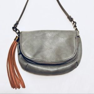 Ecote Gray Mini Tassel Crossbody Bag